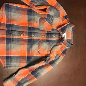 Old navy kids plaid long sleeve (cozy)